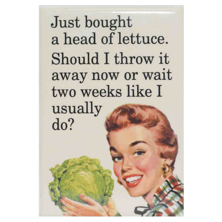 Image of Fridge Magnet - Just Bought A Lettuce