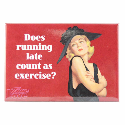 Image of Fridge Magnet - Does Running Late Count