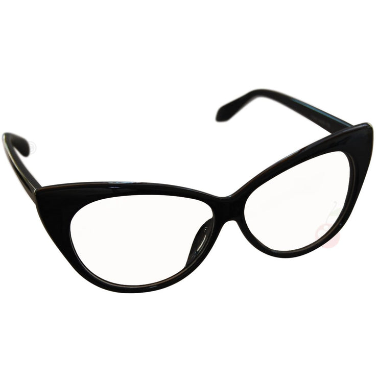 Image of Cat Eye Costume Glasses - Black