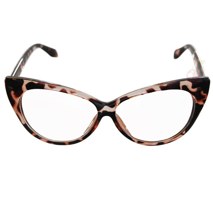 Image of Cat Eye Costume Glasses - Tortoiseshell