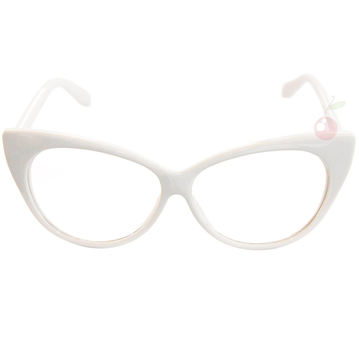 eb813e8e3ba3 Cat Eye Costume Glasses - White – Atomic Cherry