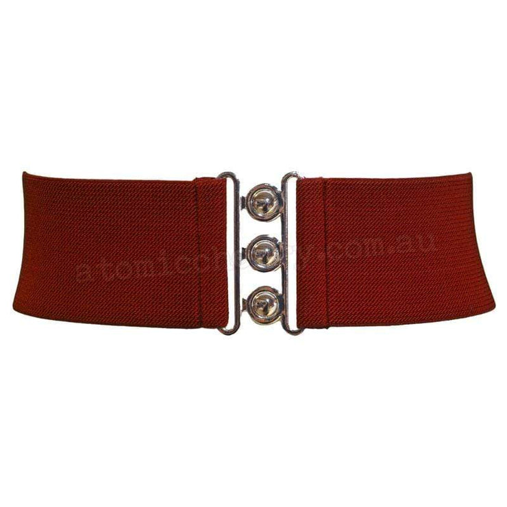 Hell Bunny Elastic Waist Cinch Belt - Burgundy