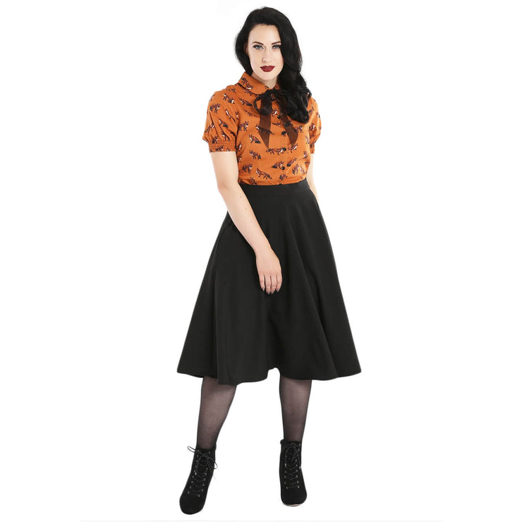 Hell Bunny Amelie 50's Skirt - Black full length