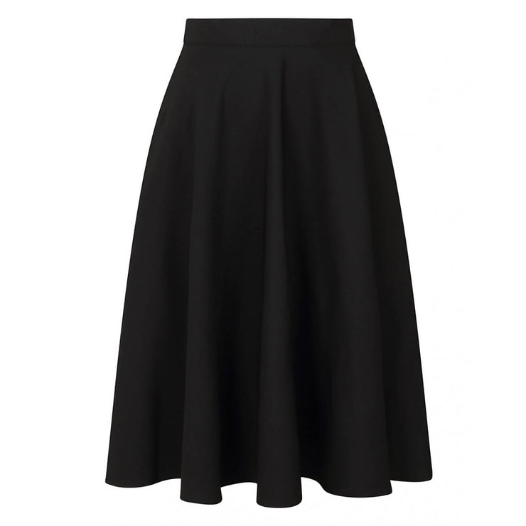 Hell Bunny Amelie 50's Skirt - Black invisible mannequin front