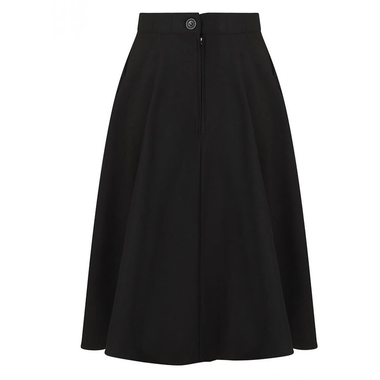 Hell Bunny Amelie 50's Skirt - Black invisible mannequin back