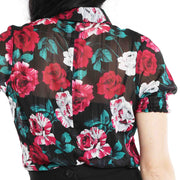 Hell Bunny Bed Of Roses Floral Top back