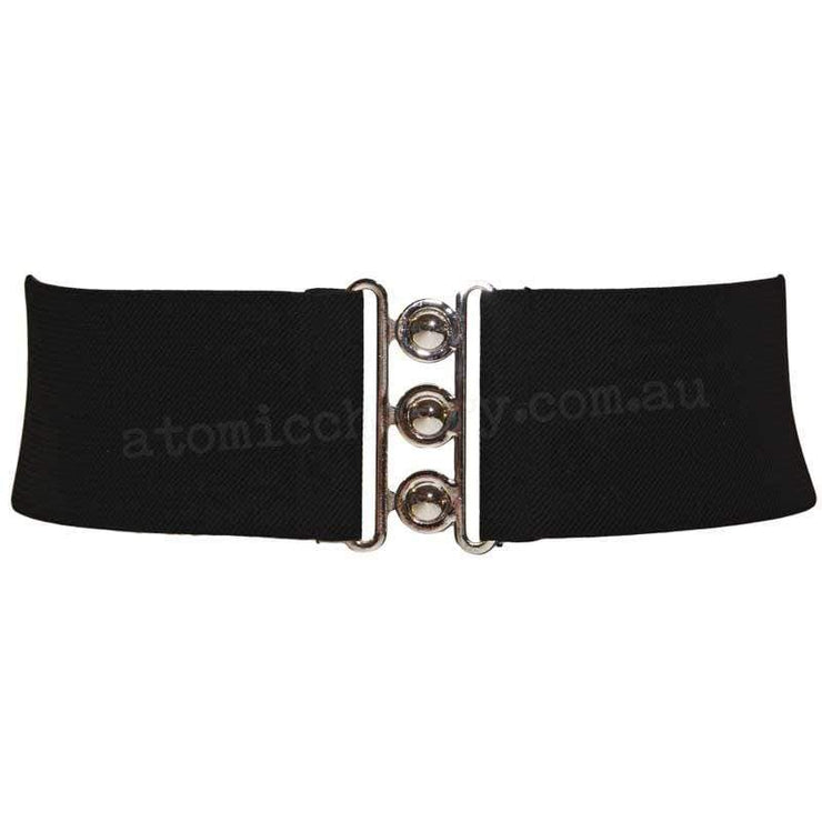 Hell Bunny Elastic Waist Cinch Belt - Black