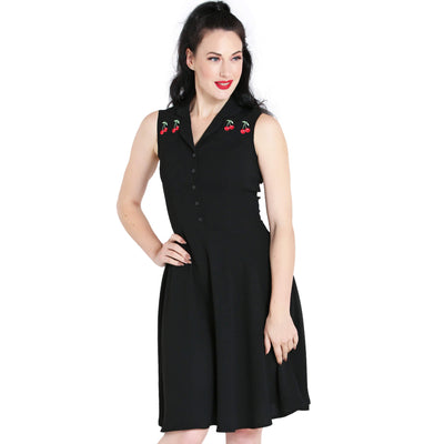 Hell Bunny Cherry Bonbon Dress - model front