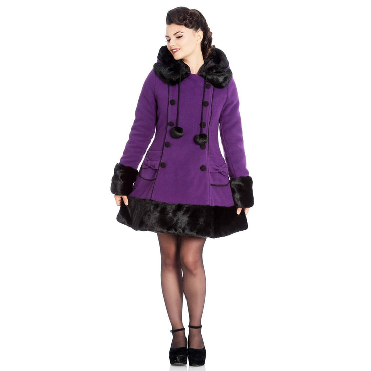 Image of [Special Order] Hell Bunny Sarah Jane Coat - Purple