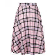 Hell Bunny Dalston 50's Skirt - Pink on invisible mannequin back