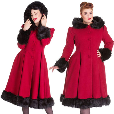 Image of [Special Order] Hell Bunny Elvira Coat - Burgundy