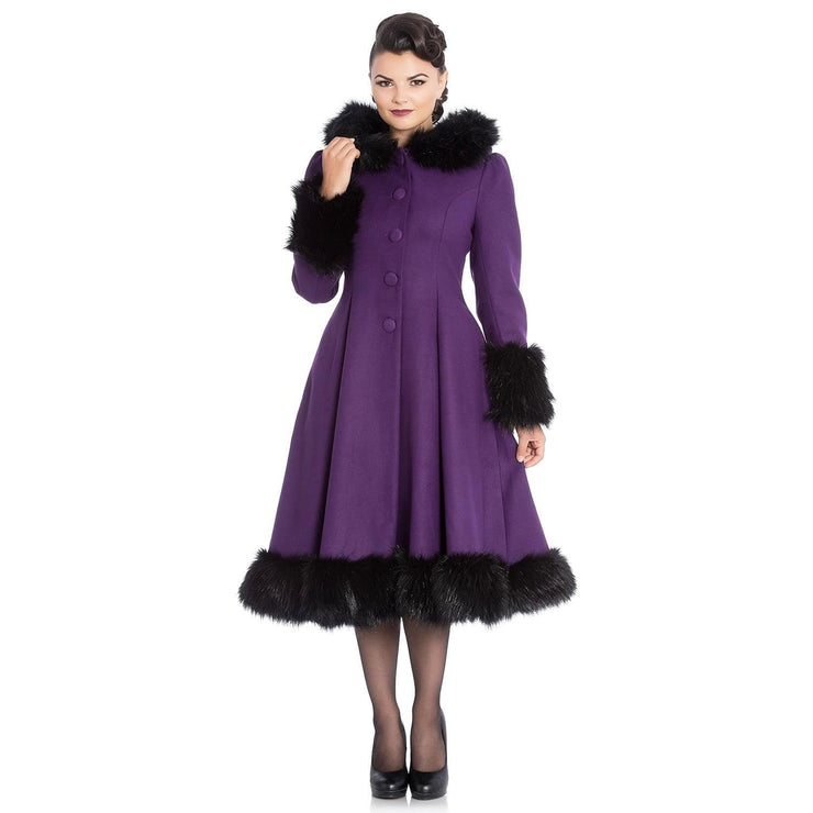Image of [Special Order] Hell Bunny Elvira Coat - Purple
