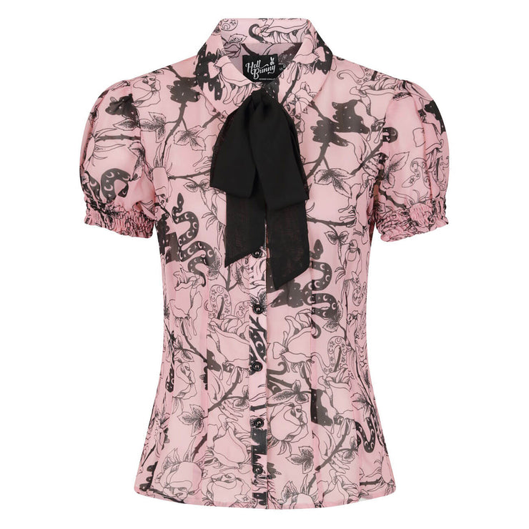 Hell Bunny Fiona Blouse - on invisible mannequin front