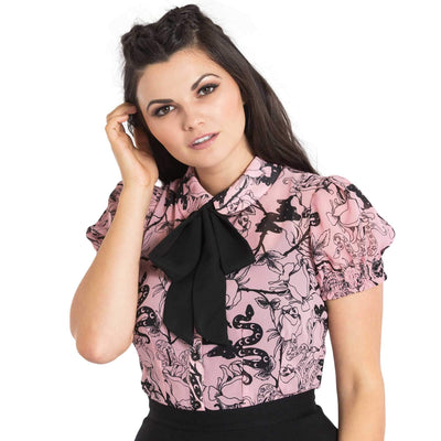 Hell Bunny Fiona Blouse - model front