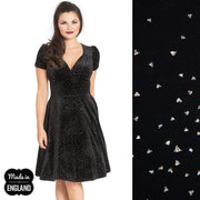 Hell Bunny Glitterbelle Velvet Party Dress front