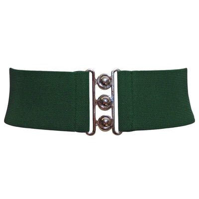 Hell Bunny Elastic Waist Cinch Belt - Green
