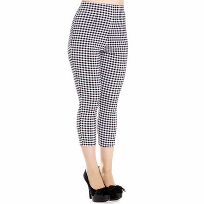 Image of Hell Bunny Judy Gingham Capri Pants