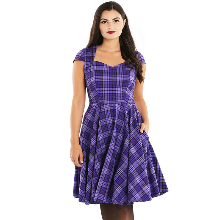 Hell Bunny Kennedy Retro 50s Dress - front