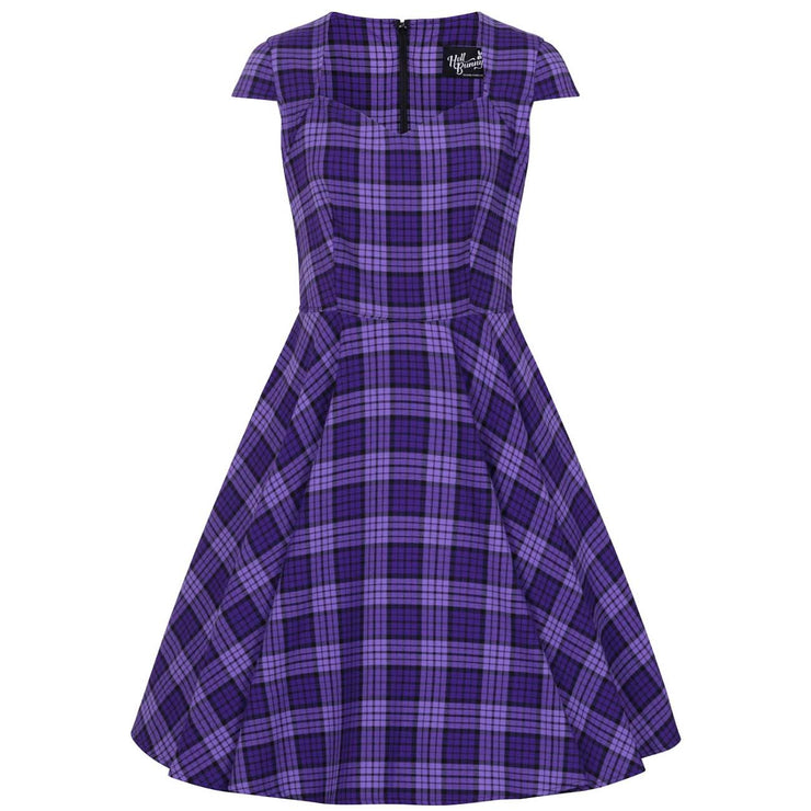 Hell Bunny Kennedy Retro Plaid 50s Dress - invisible mannequin front
