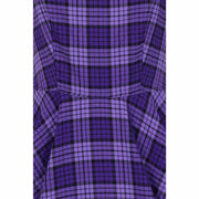 Hell Bunny Kennedy Retro Plaid 50s Dress - farbic