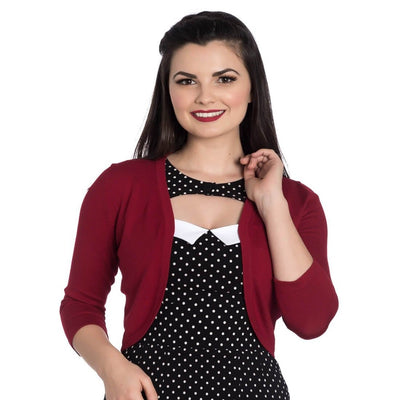 Image of [Special Order] Hell Bunny Maggie Bolero Cardigan - Red