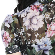 Hell Bunny Magnolia Floral Top close up of back