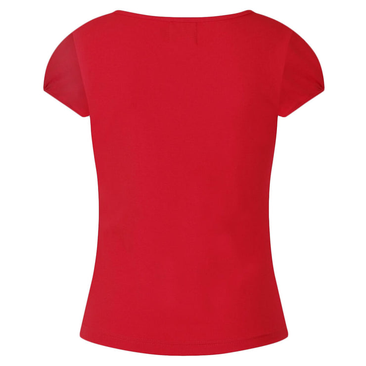 Hell Bunny Mia Top - Red on invisible mannequin - back