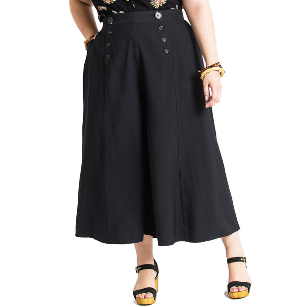 Hell Bunny Murphy Culottes - Black