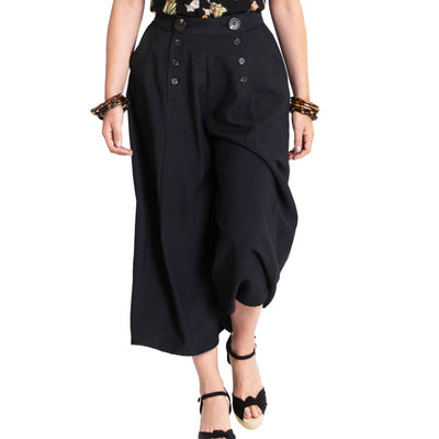 Image of Hell Bunny Murphy Culottes - Black