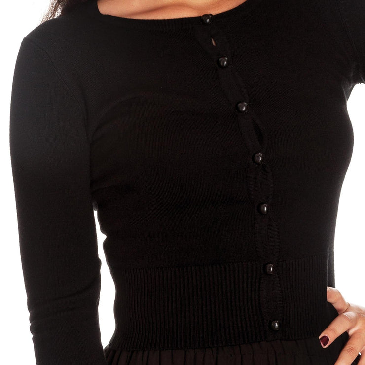 Image of Hell Bunny Paloma Cardigan Black