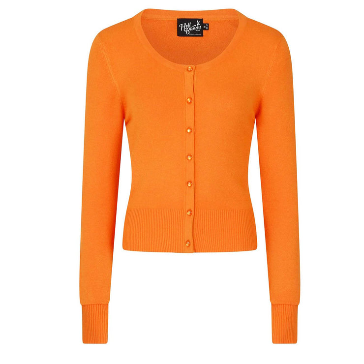 Hell Bunny Paloma Cropped Cardigan - Orange front