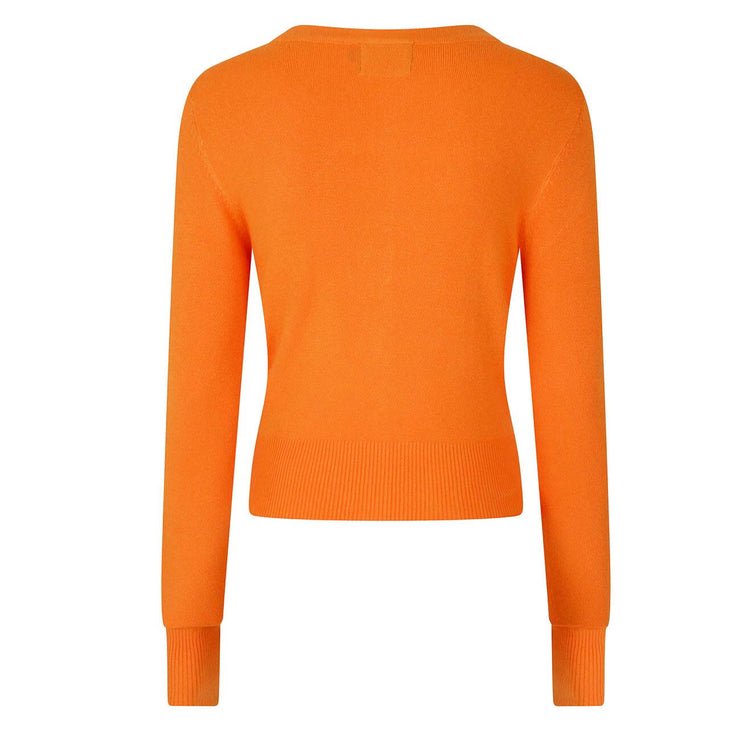 Hell Bunny Paloma Cropped Cardigan - Orange back