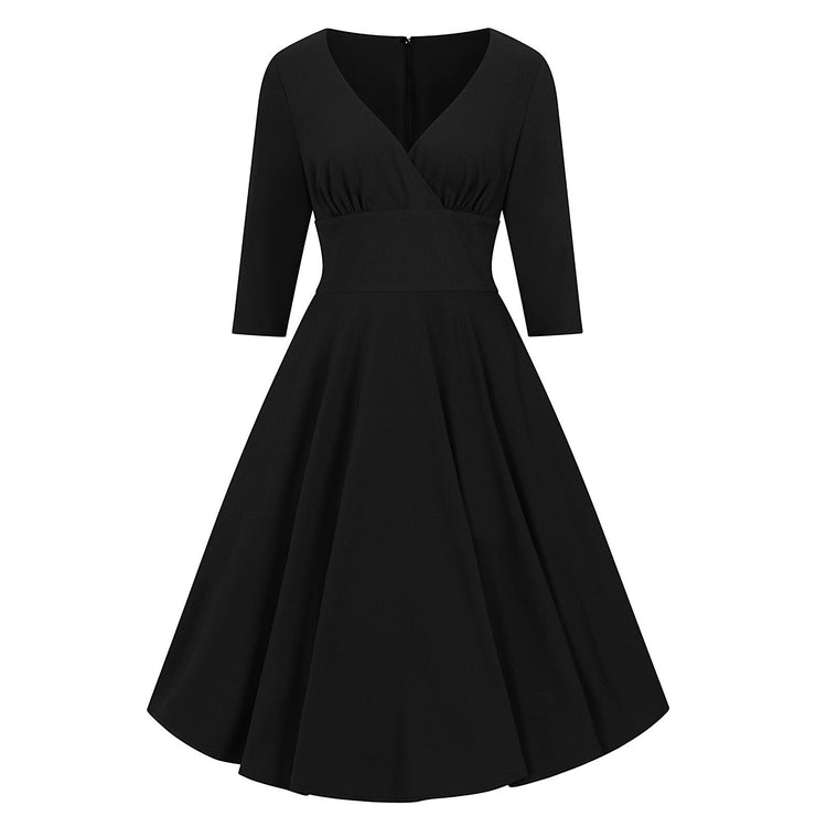 Hell Bunny Patricia 50's Dress - Black - invisible mannequin front