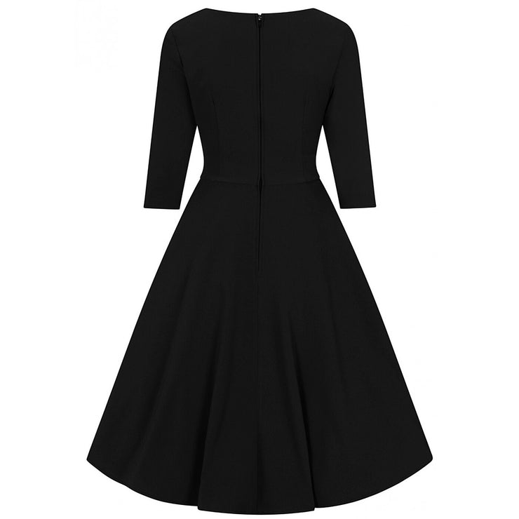 Hell Bunny Patricia 50's Dress - Black - invisible mannequin back