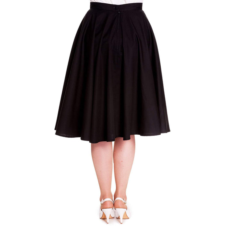 Image of Hell Bunny Paula Black 50's Skirt