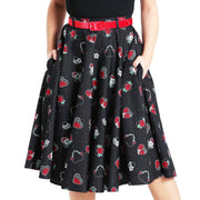 Hell Bunny Petals 50's Skirt - model front