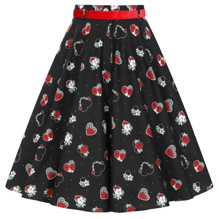 Hell Bunny Petals 50's Skirt - invisible mannequin back