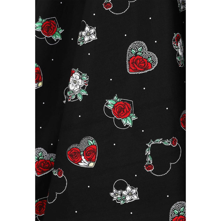 Hell Bunny Petals 50's Skirt - fabric