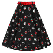 Hell Bunny Petals 50's Skirt - invisible mannequin front