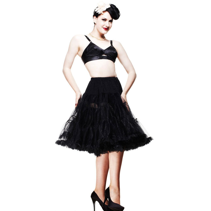 Image of Hell Bunny Petticoat - Long Below Knee - Black