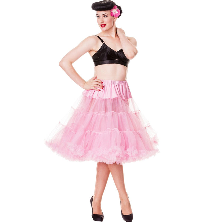 Image of Hell Bunny Petticoat - Long Below Knee - Bubblegum Pink