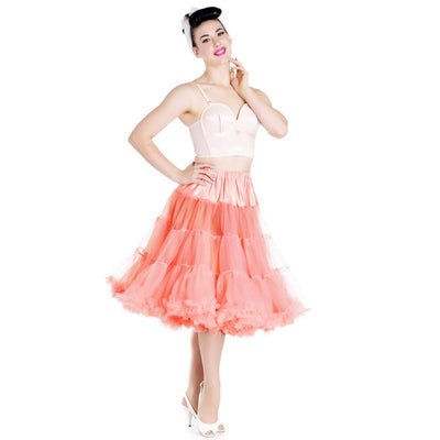 Hell Bunny 50s Petticoat - Long Below Knee - Coral