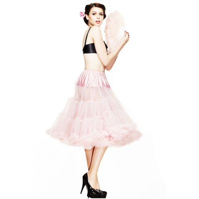 Hell Bunny 50s Petticoat - Long Below Knee - Dolly Pink