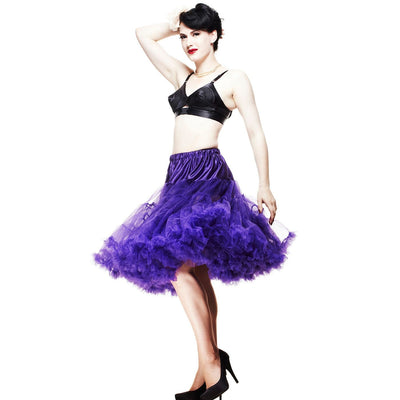 Image of Hell Bunny Petticoat - Long Below Knee - Purple