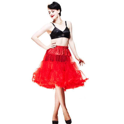 Image of Hell Bunny Petticoat - Long Below Knee - Red