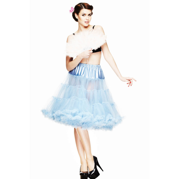 Hell Bunny 50s Petticoat - Long Below Knee - Sky Blue