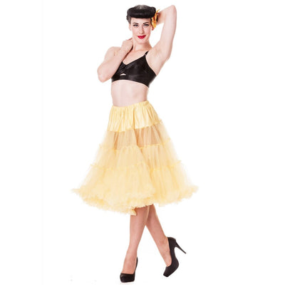 Image of Hell Bunny Petticoat - Long Below Knee - Yellow