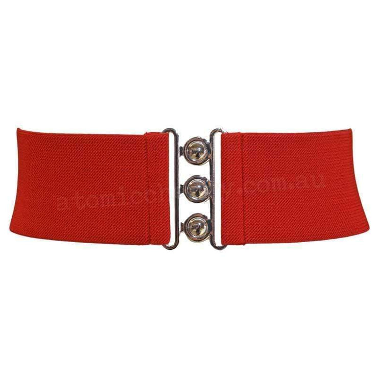Hell Bunny Elastic Waist Cinch Belt - Red