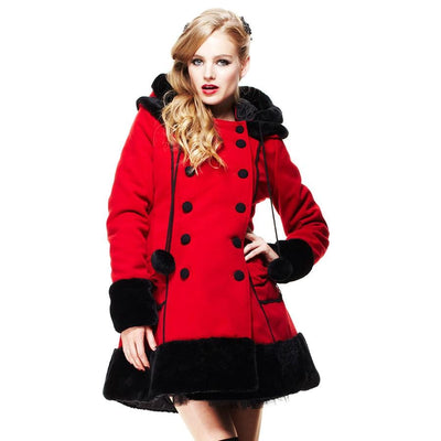 Image of [Special Order] Hell Bunny Sarah Jane Winter Coat - Red