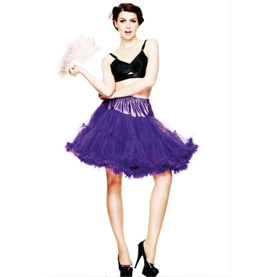 Hell Bunny 50s Pin Up Petticoat - Short (Above Knee) - Purple